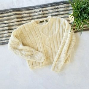 Vintage Cropped Mohair Sweater